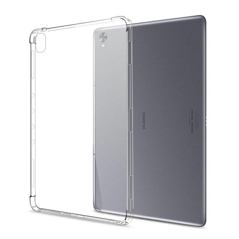Krzemu skrzynka dla Huawei MediaPad T8 T5 T3 10 9.6 M3 M5 Lite 8.0 8.4 10.1 10.4 10.8 przezroczysty futerał miękki TPU powrót Tablet pokrywa