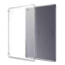 Силиконовый чехол для Huawei MediaPad T8 T5 T3 10 9,6 M3 M5 Lite 8,0 8,4 10,1 10,4 10,8, прозрачный мягкий чехол из ТПУ, задняя крышка планшета