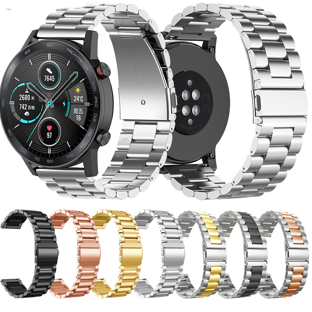 22mm Stainless Steel Straps For Huawei Honor Watch Magic 2 42MM Classic Metal Watch Band For Huawei Watch  GT2 2 46mm Coreea
