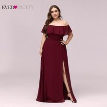 Бордовый подружки невесты платья розовый плюс размер всегда красивый элегантный трапеция с открытыми плечами торжественное платье для свадьбы вечеринки горничной чести