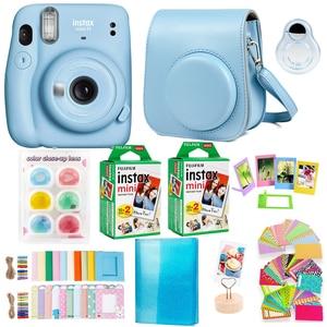 Fujifilm Instax Mini 11 Instant Camera Bundle Kit with Polaroid Mini Film Paper Camera Shoulder Strap Bag Stickers Accessories