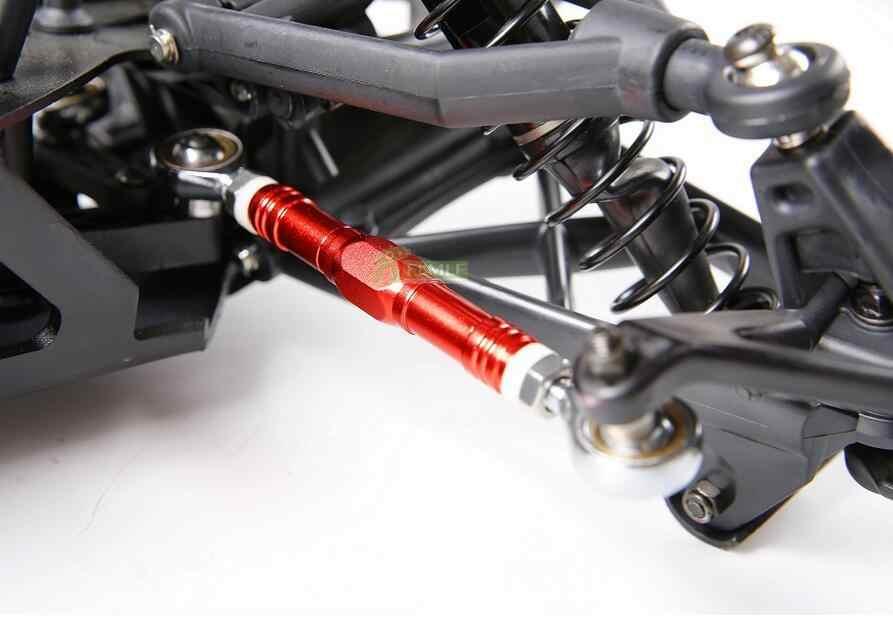 Legering CNC Steering Plate Set Steering Tie Trekstang Set Fit voor 1/5 HPI KM ROVAN BAJA 5B 5T 5SC SS RC AUTO ONDERDELEN