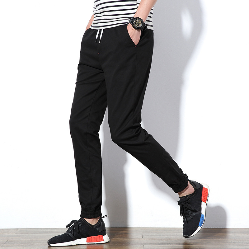 2017 Spring And Summer New Style Slim Fit Casual Youth Solid Color Skinny Pants Athletic Pants Pants Fashion Man