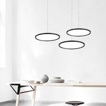 Luces colgantes ultradelgadas led modernas para comedor, tienda, bar, proyecto, lámpara colgante para el salón, 110V, 220V, accesorios de luces colgantes