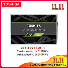 Твердотельный накопитель 100% TOSHIBA, 240 ГБ, TR200, 480 ГБ, 64 уровня, 3D BiCS FLASH TLC, 2,5 дюйма, SATA III SSD, 960 ГБ, внутренний диск для ПК, ноутбука