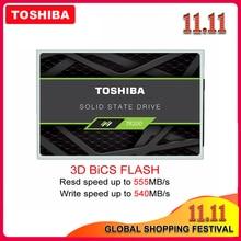 TOSHIBA disque dur interne SSD TR200, avec capacité de 100% go, 240 go, 480 go, 64 couches, bbic 3D, TLC, 2.5 pouces, SATA 3, pour ordinateur portable, 960