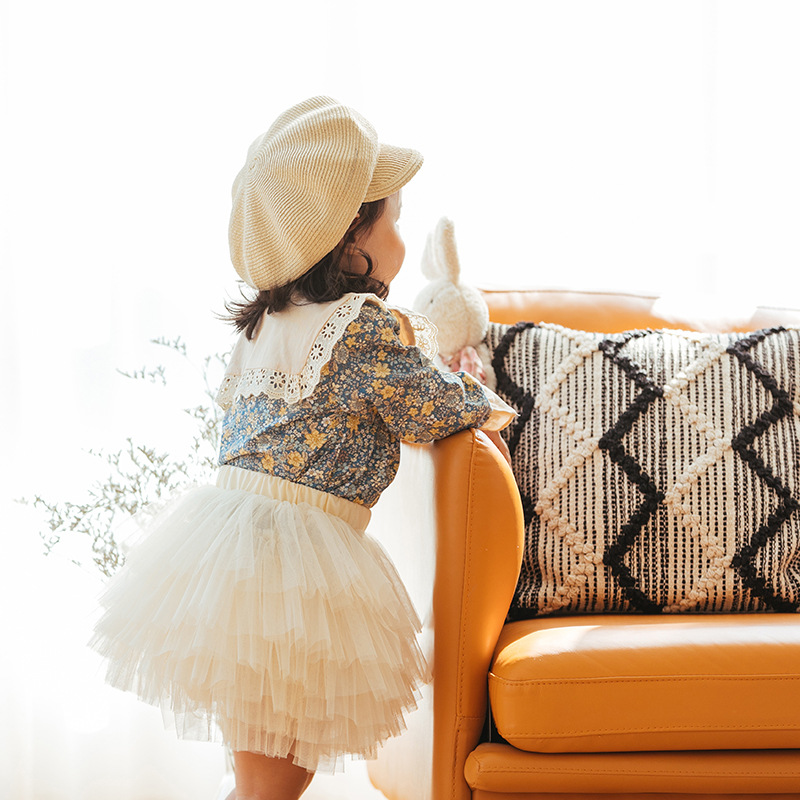 Fashion Girls Tutu Fluffy Skirt Princess Ballet Dance Tutu Mesh Skirt Kids Cake Skirt Cute Girls Clothes DT081 5