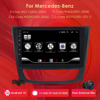 4G Android 10 2 din car NO DVD player For Mercedes Benz E-class W211 E200 E220 E300 E350 E240 E270 E280 CLS CLASS W219 image