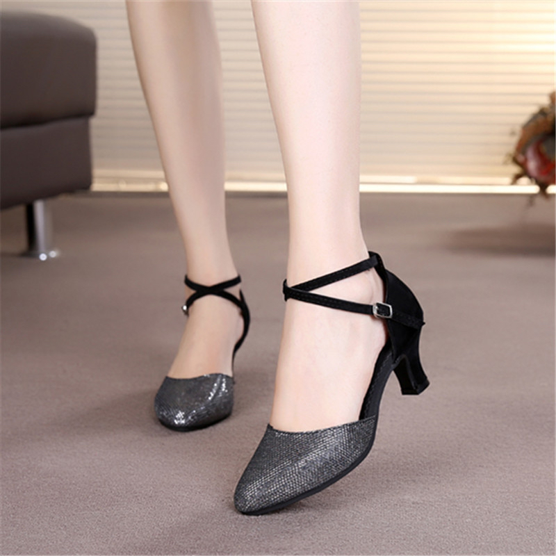 Dance-Shoes Heeled Ballroom Latin New for 5-Colors/tango-Pole And 5CM title=