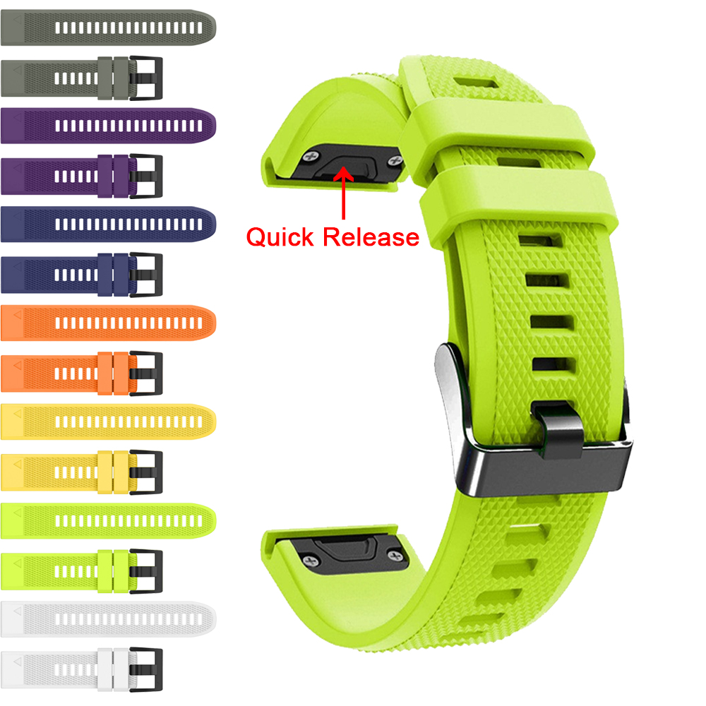 Band For Garmin Fenix 5X 5 5S Plus 3 3 HR Quick Release Silicone Wrist Strap For Garmin Instinct / Forerunner 945 935 Watchband