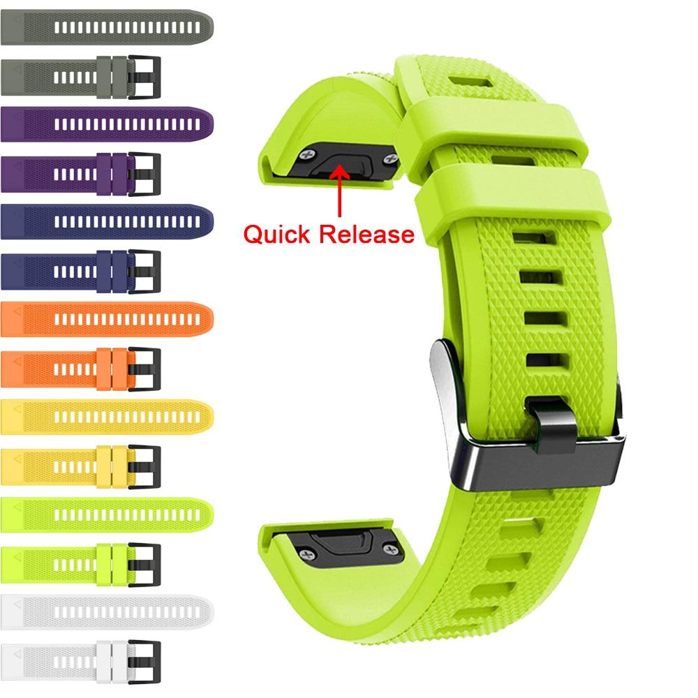 Band For Garmin Fenix 5X 5 5S Plus 3 3 HR Quick Release Silicone Wrist Strap For Garmin Instinct / Forerunner 945 935 Watchband