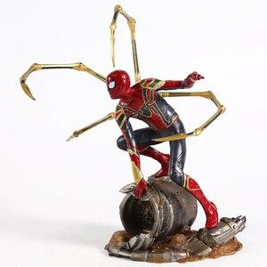 Image 5 - Marvel Avengers Unendlichkeit Krieg Eisen Spinne Statue Spiderman PVC Action Figure Sammeln Modell Superhero Spielzeug Puppe