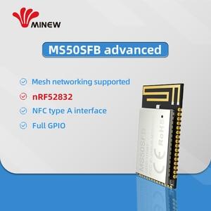 Image 4 - נורדי nrf52832 מודול uhf אלחוטי נתונים 2.4 ghz מקלט משדר uart ארוך טווח משדרים minew MS50SFB1