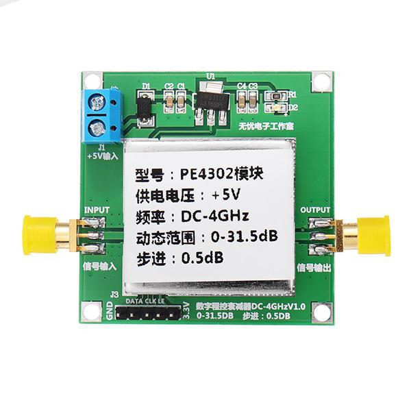 PE4302 Digital RF Step Attenuator Module DC 4GHZ 0 31.5DB 0.5dB High Linearity