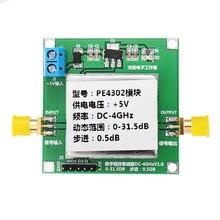 PE4302 디지털 RF 스텝 감쇠기 모듈 DC 4GHZ 0 31.5DB 0.5dB 고 선형성
