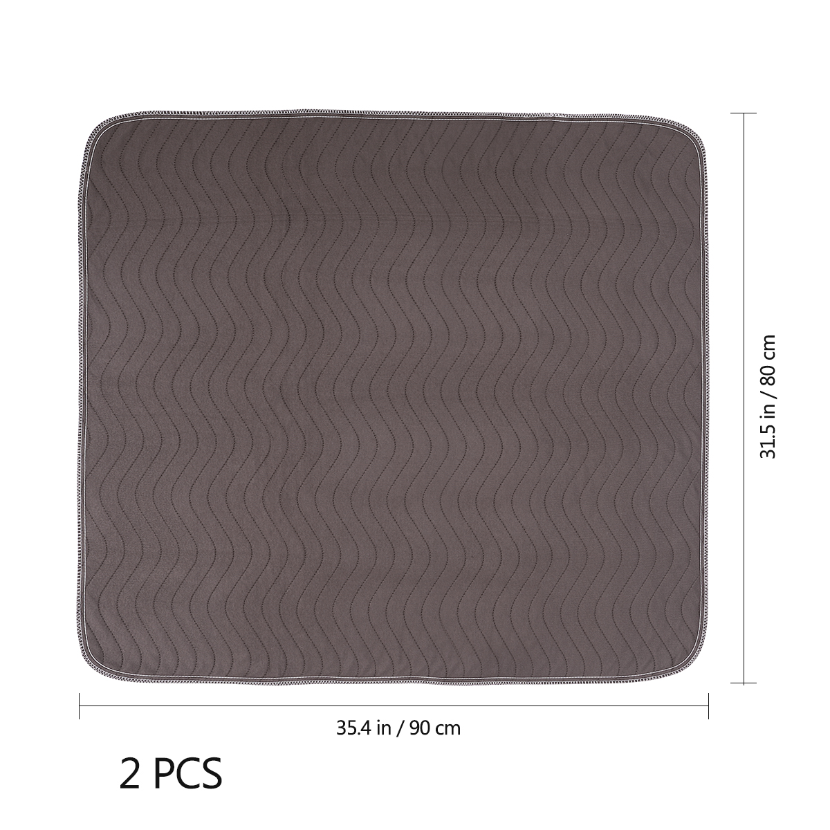 2PCS 90x80CM Dog Small Pet Pee Pads Large Size Reusable Washable Waterproof Fast Absorbing for Bed