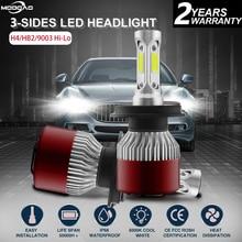 цена на H4 Car Headlight High-Low Beam LED Headlamp Bulb h4 6000K 144W 14400LM Hi-Lo  Bulbs High Power 360 degree 9V-32V Waterproof
