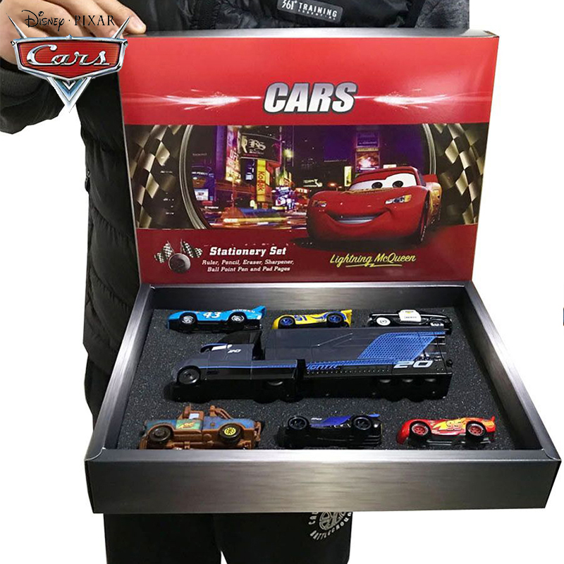 1:55 Genuine Disney Pixar Cars Lightning McQueen Mack Cars Gift Set with Box Children Educational Metal Toys Best Gifts To Kids|Diecasts & Toy Vehicles|   - AliExpress