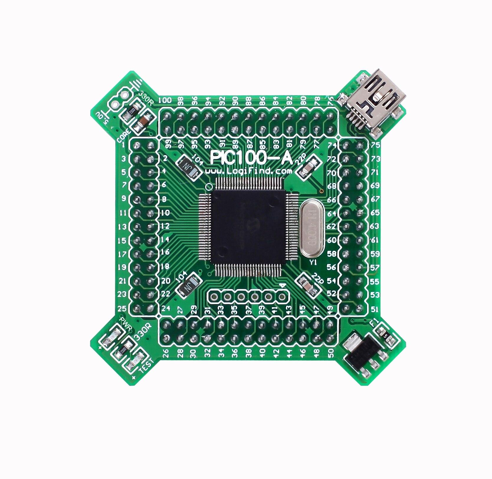 PIC24 Microcontroller Learning Development Board Core Board PIC100-A with PIC24FJ256DA110(China)