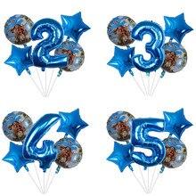 Balões de 5 pçs/lote moana de 30 polegadas, suprimentos para balão de número azul bonito da princesa moana, decoração para festa de aniversário infantil, brinquedos e presentes