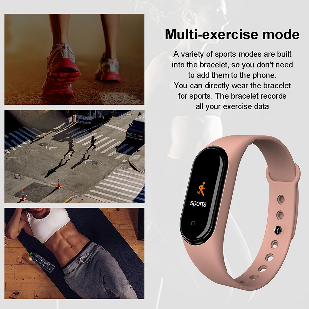 Smart Wristband Fitness Tracker Sport Watch Bracelet Touch Screen M4 M3 Miband 2019 New High Quality