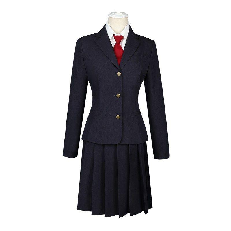 Game Identity V Kawakami Tomie Little Ghost JK Uniform Cosplay Costume Halloween Costumes New (coat+skirt+tie,not Shirt)