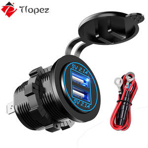 Socket Power-Outlet-Adapter Usb-Ports Dual-Usb-Charger Smartphone Car Marine Waterproof