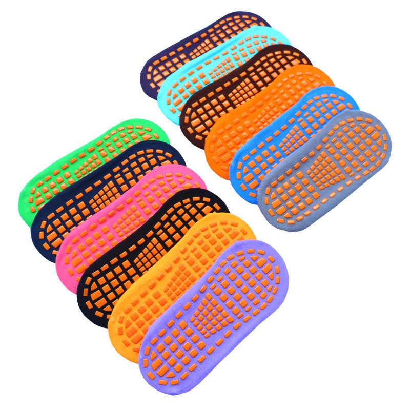 12 par/partia skarpety na trampolinę dla dorosłych i dzieci sporty halowe skarpetki antypoślizgowe skarpetki podłogowe damskie bawełniane skarpetki do jogi masaż stóp