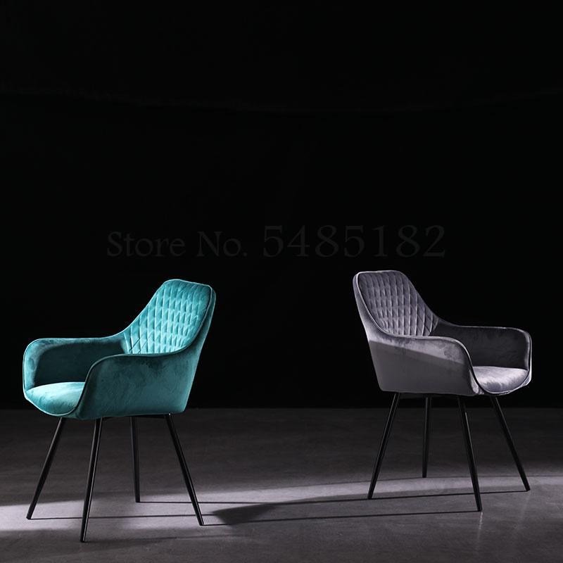 Nordic Restaurant Chair Light Luxury Dining Chair Household Simple Stool Back Table Chair Makeup Chair Net Red Fabric Leisure