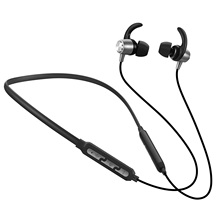 PunnkFunnk Necklace wireless headset bluetooth 5.0, Sport Earphones with Mic in ear bass stereo