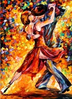 handpainted dance painting knife painting Leonid Afremov artist painting reproduction decorations pictures hanging wall décor