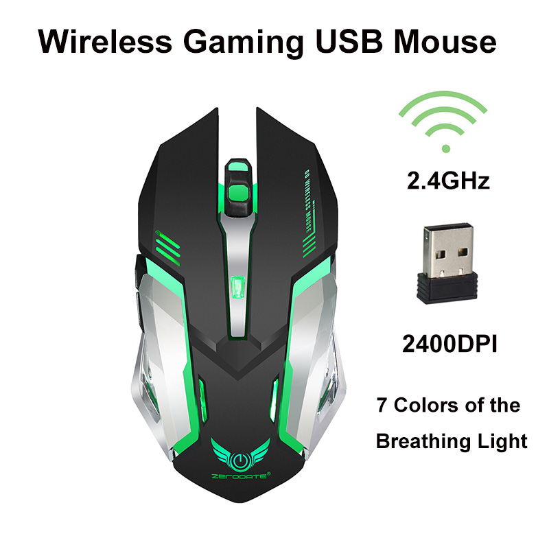 2.4GHz Wireless Optical Mouse Gamer New Game Rechargeable Wireless Mice with USB Receiver Mause for PC <font><b>Gaming</b></font> Laptops