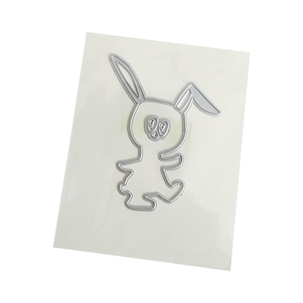 Cute Rabbit Metal Cutting Dies for Scrapbooking DIY Craft Paper Card Making