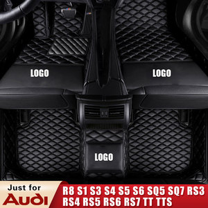 Пользовательские кожаные водонепроницаемые автомобильные коврики для audi R8 S1 S3 S4 S5 S6 SQ5 SQ7 RS3 RS4 RS5 RS6 RS7 TT TTS автомобильные прокладки ковры для у...