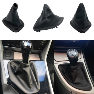 Leather Collar Shift Knob Shifter Boot Cover Case For BMW E36 3 Series E30 E34 E39 E81 E82 E87 E88 Car Styling Accessories