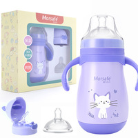 260ml Baby Water Bottle Safe Kids Learning Cup Infant Newborn Sippy Cup Insulation Children Learn Feeding Drinking Bottle Tazas