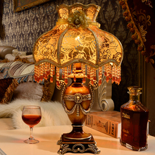 European style Retro Table Lamp Princess Garden Creative Decorative Lights for Bedroom Bedside Art Decor Desk