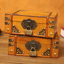 Vintage old wooden mini box dressing table cosmetic storage jewelry box shooting props home decoration ornaments handicrafts
