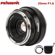 Объектив Pergear 25 мм f1.8 Prime для всех серий Sony E Mount для Fuji Mount Micro 4/3 Camera A7 A7II A7R A6500 A6300 A6400