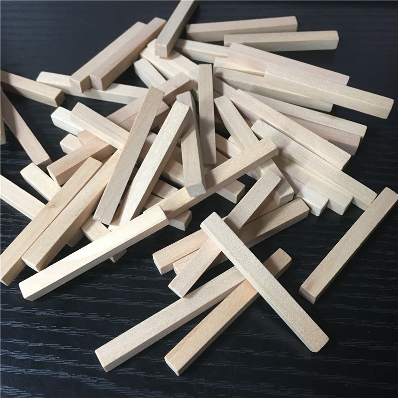 50 Pieces 53*6*6mm Original Wood Color Cuboid Wooden Stick For Board Games DTY Model Design Accessories