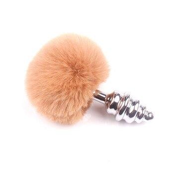 peach-rabbit-tail-anal-plug-spiral