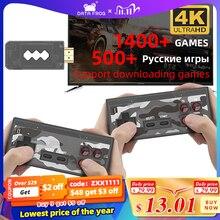 Daten Frosch USB Wireless Handheld TV Video Spiel Konsole Bauen In 1400 Klassische Spiel 4K 8 Bit Mini Video konsole Unterstützung HDMI Ausgang