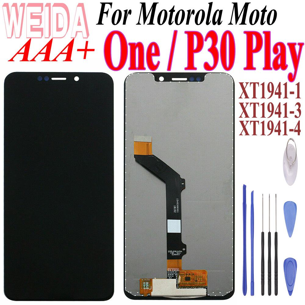 Original Tested For Motorola Moto C Plus 5.0inch XT1721 XT1722 <font><b>XT1723</b></font> XT1724 LCD Display Touch Screen Replacement with Free Tool image
