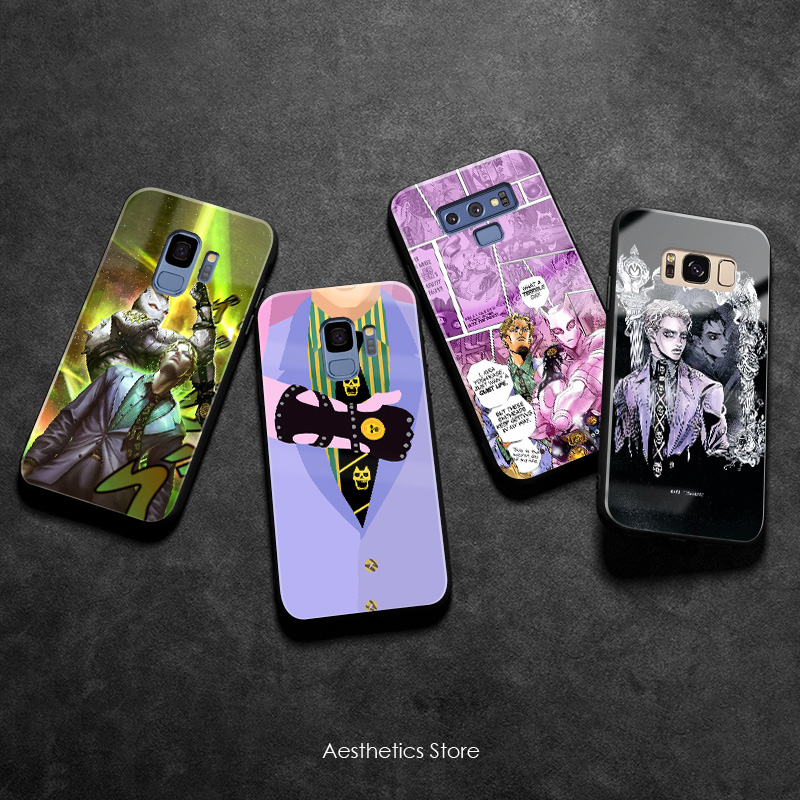 Yoshikage Kira JOJO Part 4 soft Silicone Glass Phone Case Cover Shell For Samsung Galaxy S8 S9 S10e S10 Note 8 9 10 Plus image