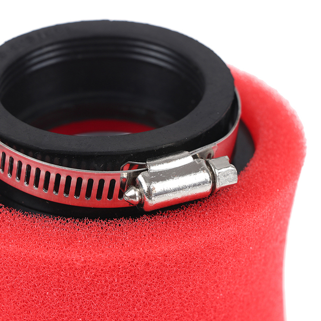 Black and Red Straight Neck Air Filter  5