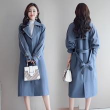 Autumn and Winter Maxi Women's Loose Trench Coat Fashion with Belt Multicolor Plus Size Korean Elegant Vintage Long Windbreaker plus size beaded maxi long coat