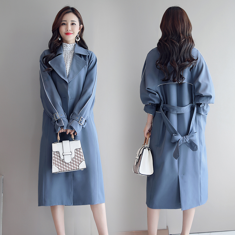 Autumn and Winter Maxi Women's Loose   Trench   Coat Fashion with Belt Multicolor Plus Size Korean Elegant Vintage Long Windbreaker