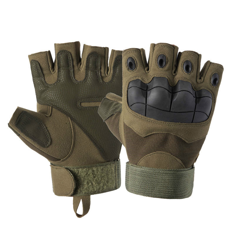 Men's Tactical Hard Knuckle Fingerless Gloves Military Army Shooting Gloves Outdoor Sport Bicycle Paintball Airsoft Motor Gloves