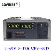 Sabit Gophert CPS 6017 DC anahtarlama güç kaynağı tek Output0 60V 0 17A 1000W ayarlanabilir