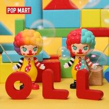 Pop mart molly carreira arte brinquedos figura caixa aleatória presente cego caixa de ação figura presente aniversário brinquedo do miúdo frete grátis